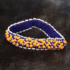 Jewelry - Auburn Clemson Beaded Bracelet